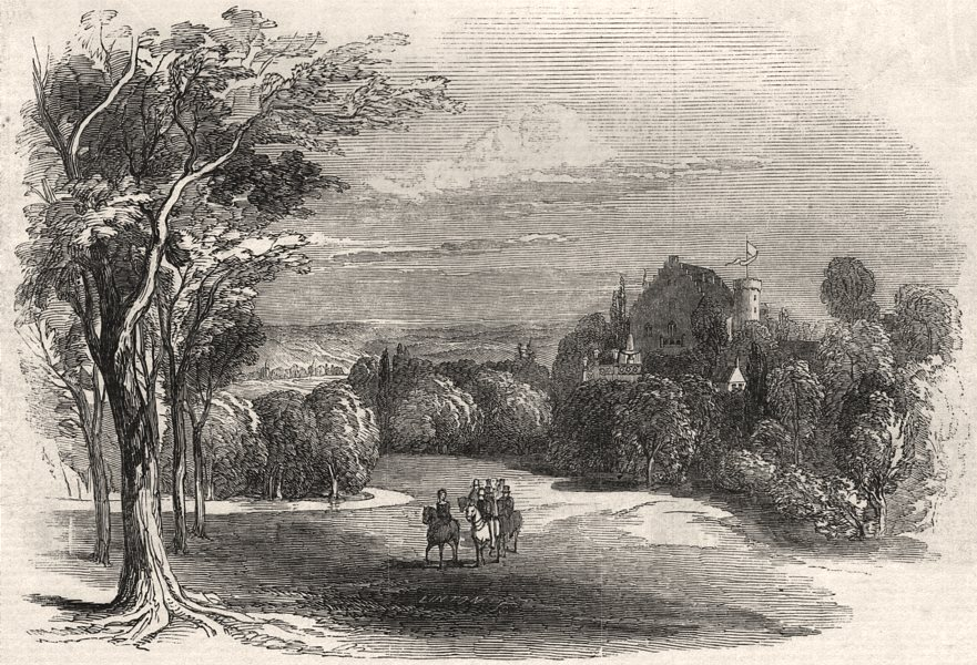 Associate Product Schloss Rosenau, near Coburg - from HRH Prince Albert's drawing. Bavaria, 1845