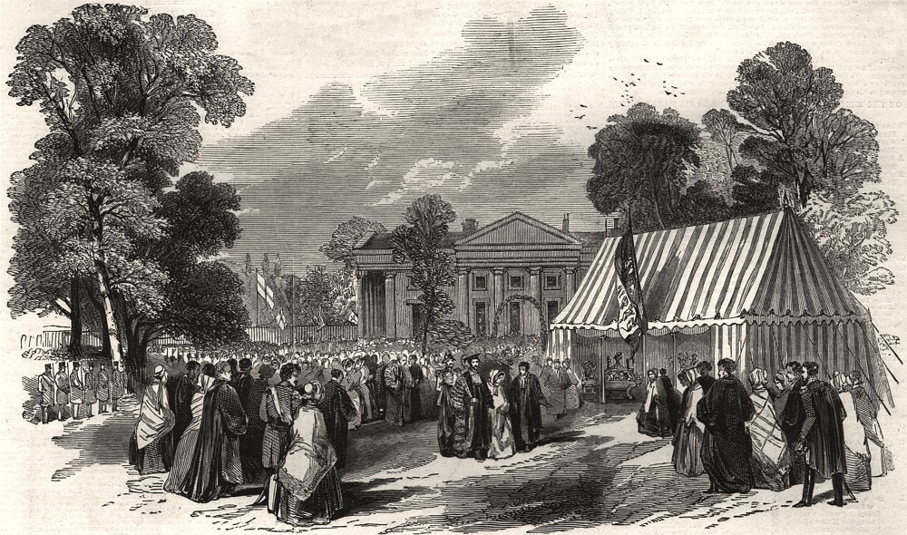 Associate Product Cambridge. The Horticultural Fete at Downing College - the Royal Pavilion, 1847