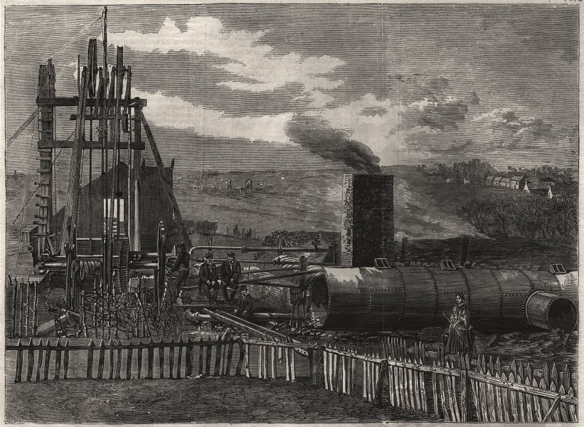 Associate Product Scene of the recent boiler explosion at Airdrie. Scotland, antique print, 1860