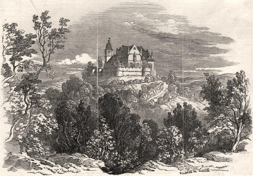 Associate Product Schloss Kalenberg - from Prince Albert's drawing. Bavaria, antique print, 1845