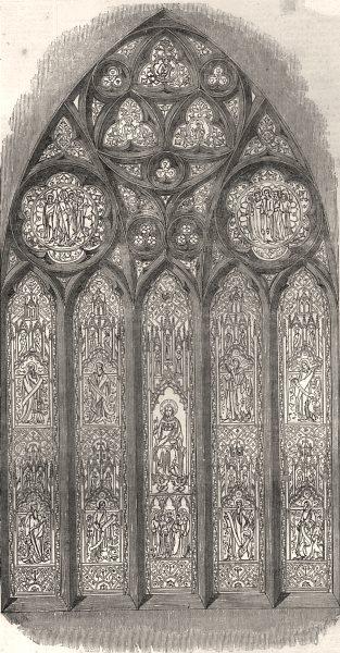 Associate Product The Wordsworth memorial window. Cumbria, antique print, 1853
