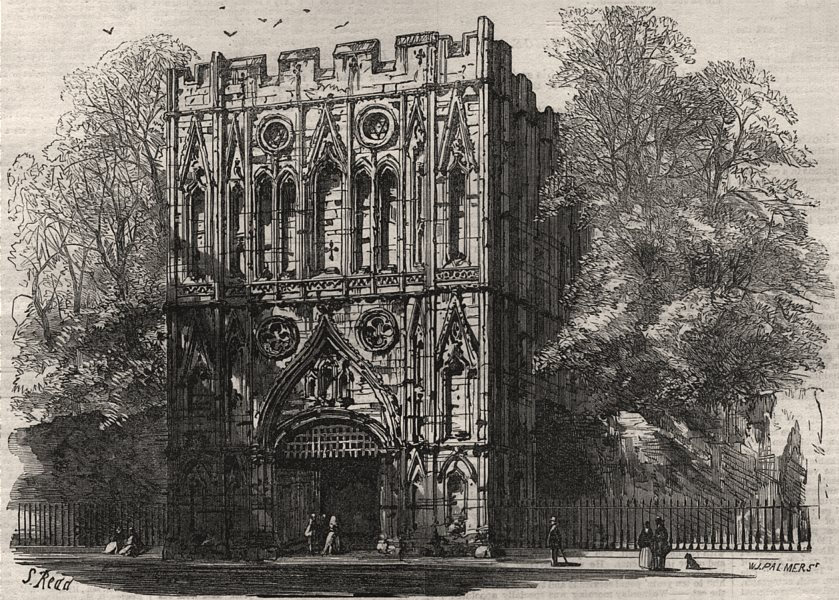 Associate Product Leaves from a sketch book - Bury St Edmunds. The abbey gate. Suffolk, 1867