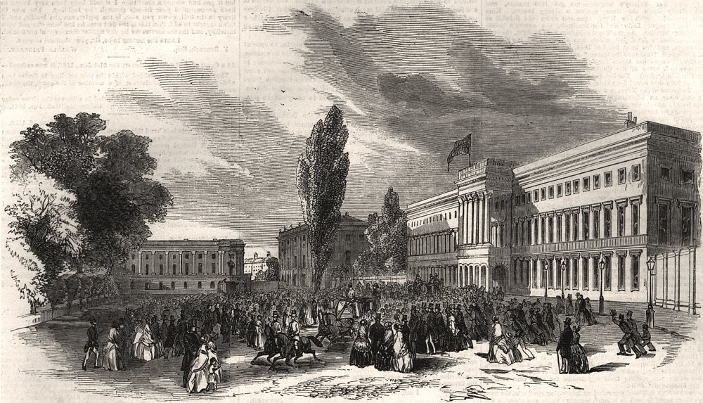 Associate Product Place du Palais, Brussels - Queen Victoria leaving for Laacken. Belgium, 1852