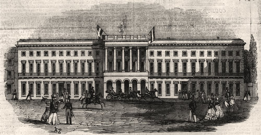 Associate Product Her Majesty's excursion to Belgium. The King's Palace, Brussels. Belgium, 1843
