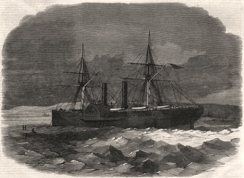 Associate Product The steam transport Adriatic in the ice at Sidney, Cape Breton. Canada, 1862