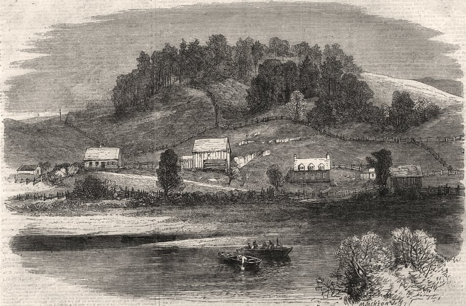 Associate Product The Chaudière goldfields, Canada. The gold diggers dwellings. Canada, 1864