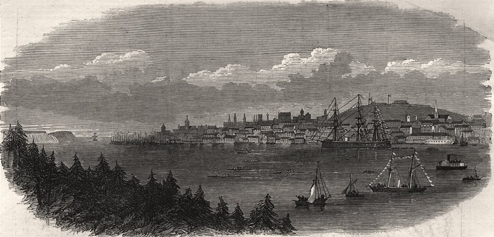 Associate Product The four-oared race to McNab's Island: view from Dartmouth. Nova Scotia, 1871