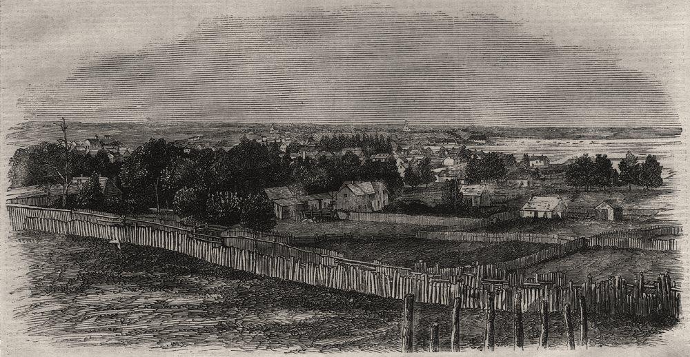 Associate Product The town of Bathurst, New Brunswick, antique print, 1860