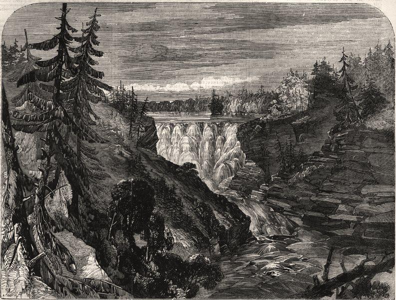 Associate Product Red River. Kakabika/Grand Falls, Kaminitiquia River, Lake Superior. Canada, 1852