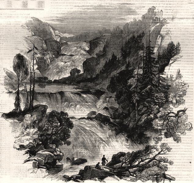 Associate Product Red River expedition Great falls Little Dog River Great Dog Portage Canada, 1858