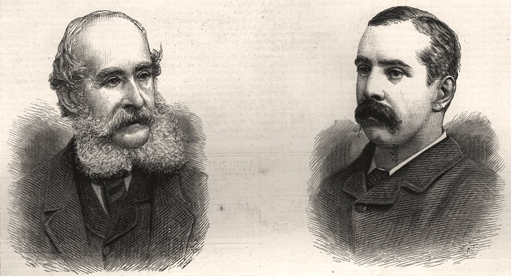 Associate Product Mr J. H. Mole VP RIPWC; Surgeon E. W. Kelsall died Burma, antique print, 1887