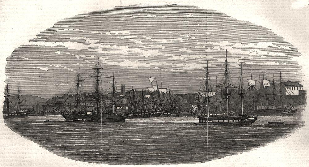 Associate Product City of St. John's. New Brunswick, antique print, 1853