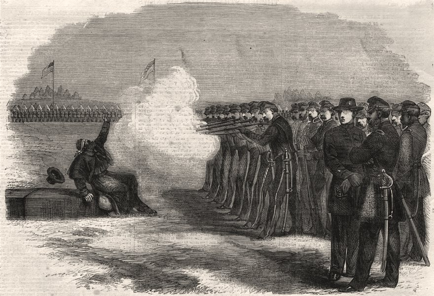Associate Product American Civil War: deserter execution, Federal camp, Alexandria, Virginia, 1862