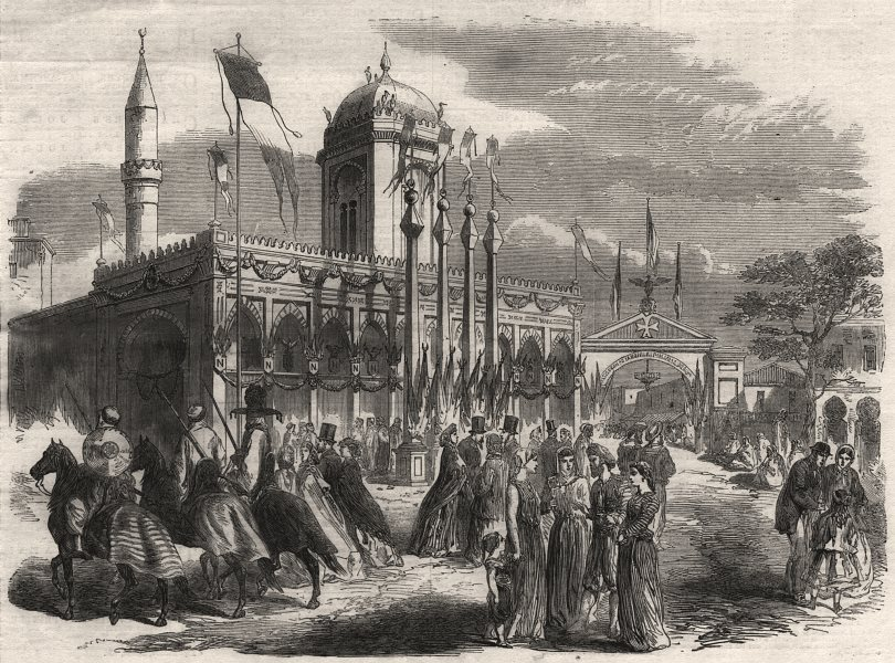 Associate Product Grand Mosque at Bone (Annaba) decorated in honour of the Emperor. Algeria, 1865