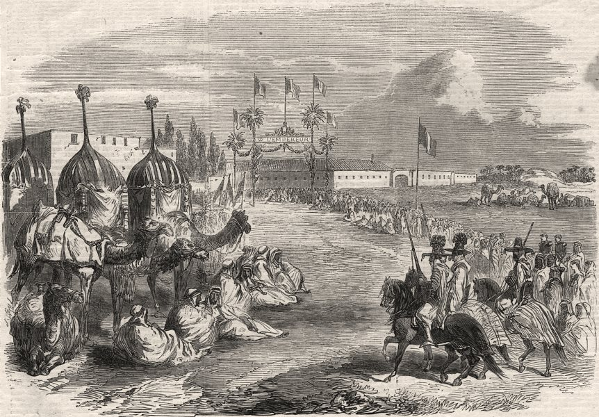 Associate Product The Arabs waiting the Emperor Napoleon's arrival at Biskara. Algeria, 1865