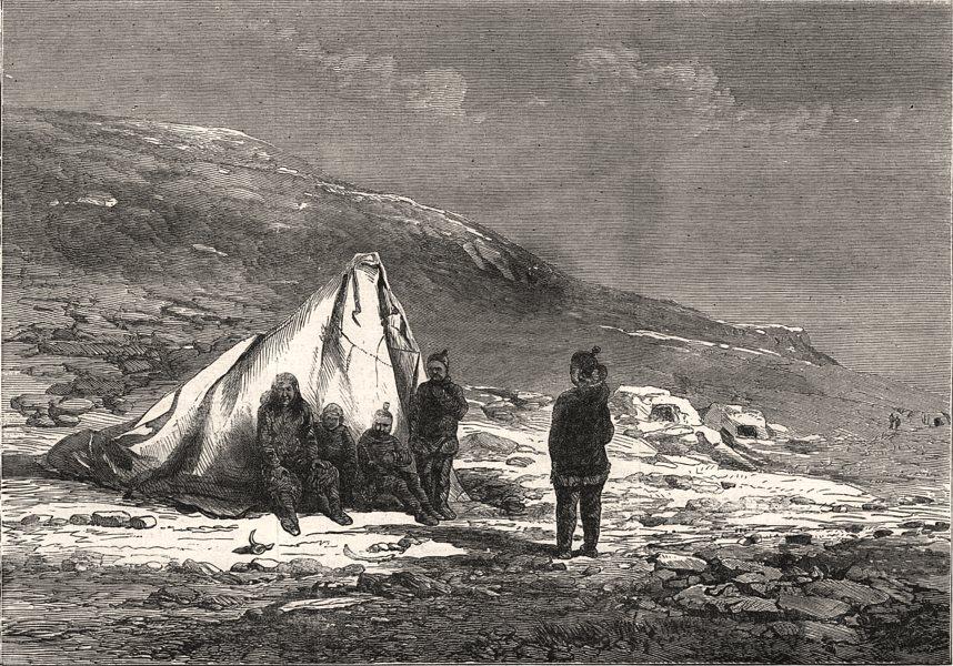 Associate Product Pandora cruise, Captain Allen Young. Netlik, Whale Sound. Greenland, print, 1876