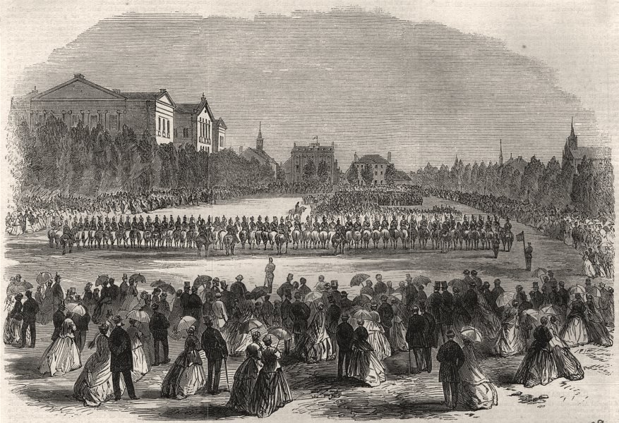 Associate Product Reception of Canadian volunteers on the Champ de Mars at Montreal. Canada, 1866