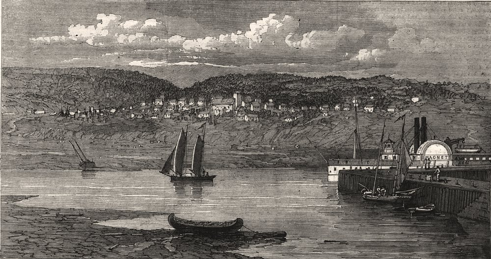 Associate Product Riviere du Loup/Fraserville on the St Lawrence, Grand Trunk Railway Quebec, 1862