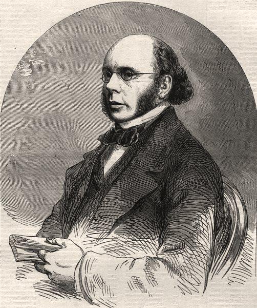 "Associate Product Mr. Alexander Russel, editor of the ""Scotsman"". Scotland, antique print, 1860"