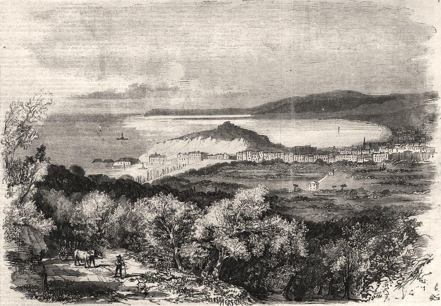 Associate Product Nice. Alpes-Maritimes, antique print, 1858