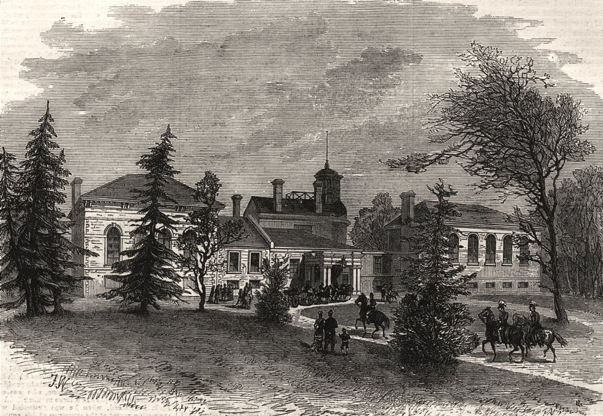 Associate Product Government House, Ottawa, Canada, antique print, 1878