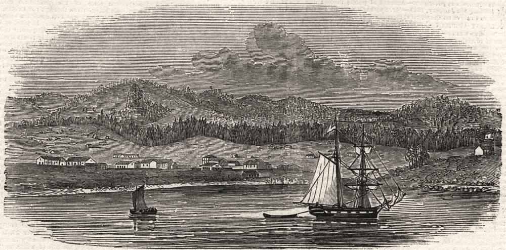 Associate Product Monterey, Upper California, antique print, 1849