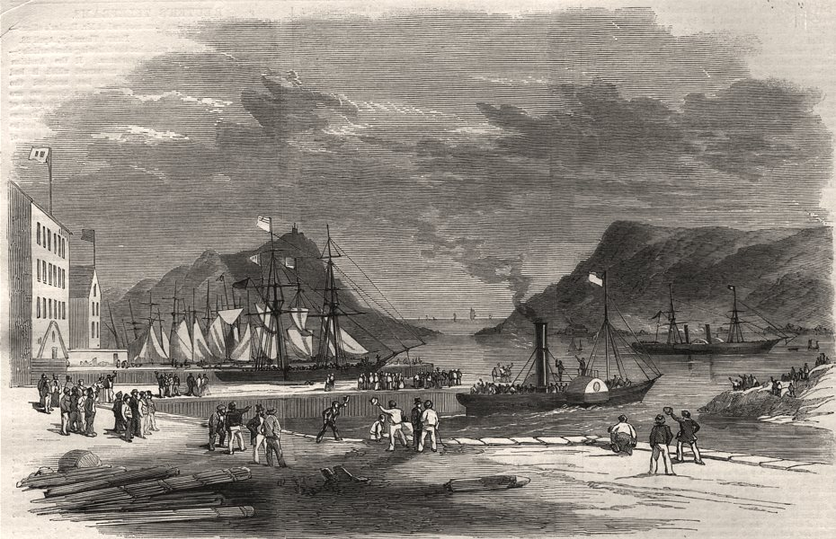 Associate Product Embarkation at St. John's Newfoundland, of the Hon. John Kent. Canada, 1859
