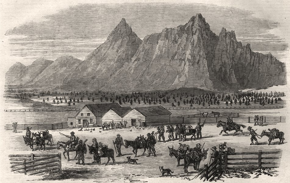 Associate Product British Columbia. The fountain near Parsonville, Fraser River. Canada, 1864