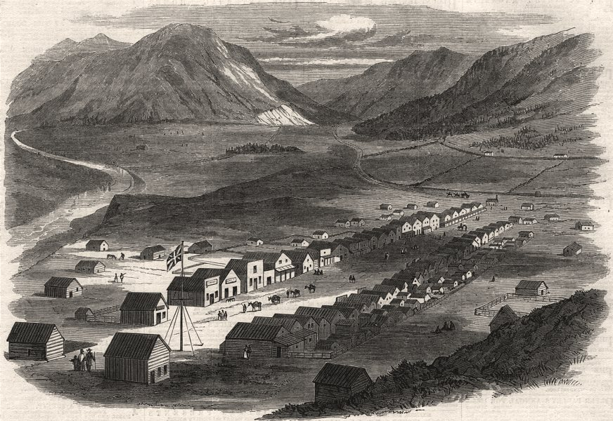 Associate Product Sketches in British Columbia. Lilloett, on the Fraser River. Canada, print, 1864