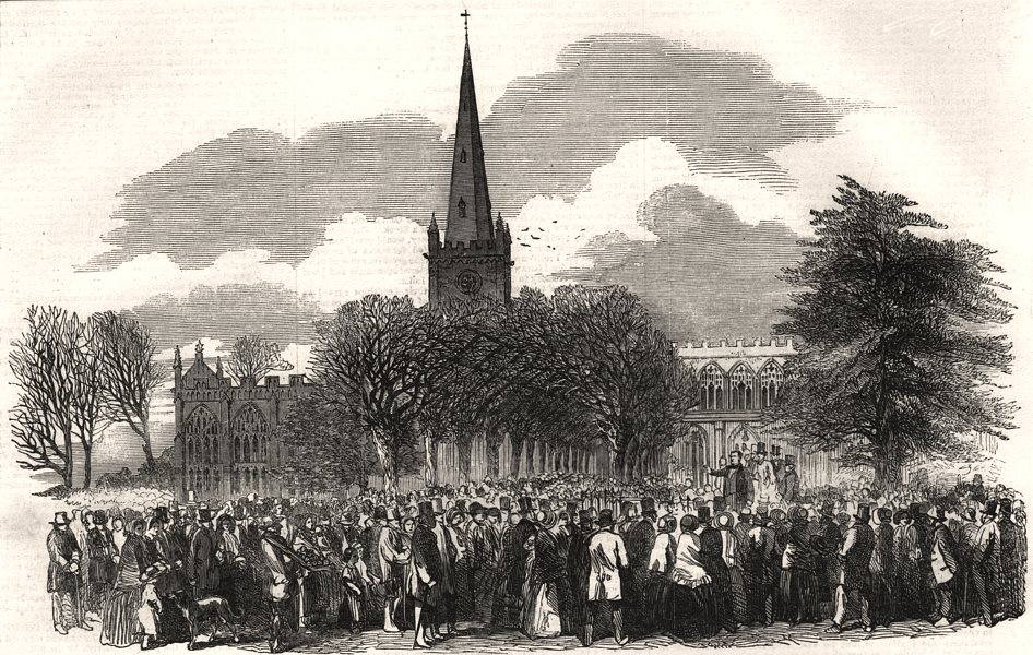 Associate Product Shakespeare Commemoration, Stratford-upon-Avon. Oration at the church gate, 1853
