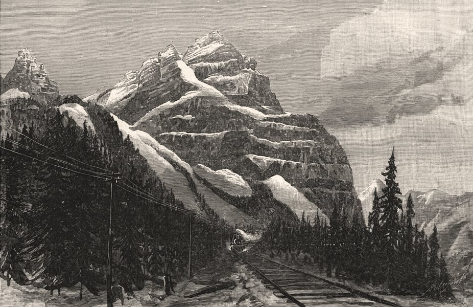 Associate Product Mount Stephen, east side: Rocky Mountain Range, British Columbia, print, 1888