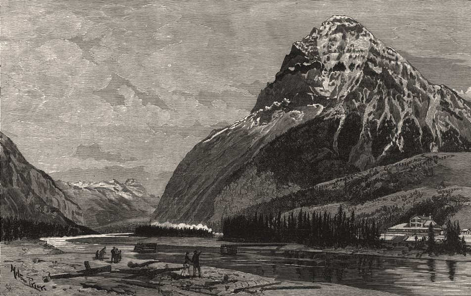 Associate Product Mount Stephen, the summit of the Rocky Mountains, British Columbia, print, 1888