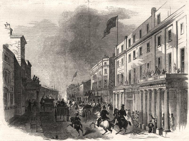 Associate Product Leamington Spa. Bath Street - new post office &c. Warwickshire, old print, 1846