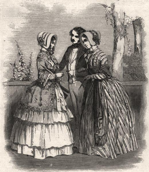 Associate Product Paris fashions for October, antique print, 1847