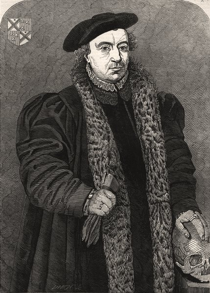 """Associate Product """"The new Holbein"""" at the National Gallery. Portraits, antique print, 1845"""