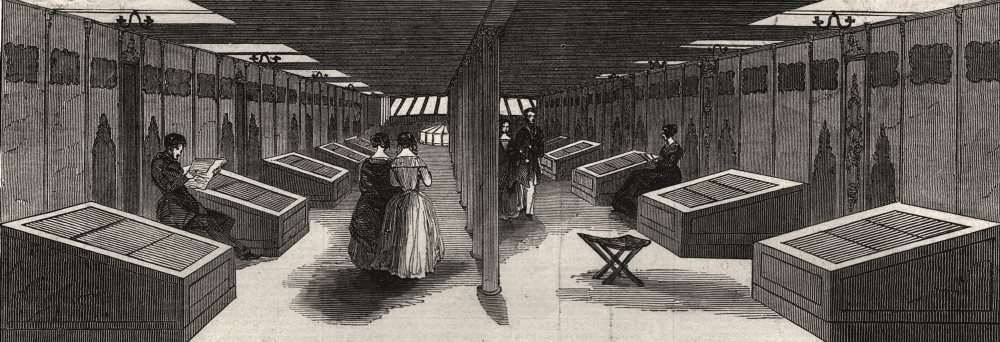 Associate Product Promenade deck & saloon of The S. S. Great Britain, antique print, 1845