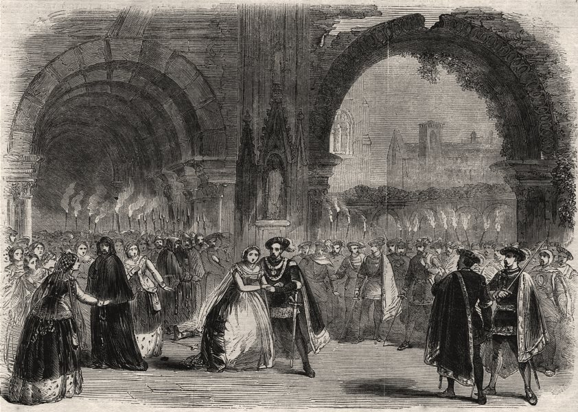 "Associate Product Scene from Balfe's new opera ""Bianca, the Bravo's Bridge"". Bridges, print, 1850"
