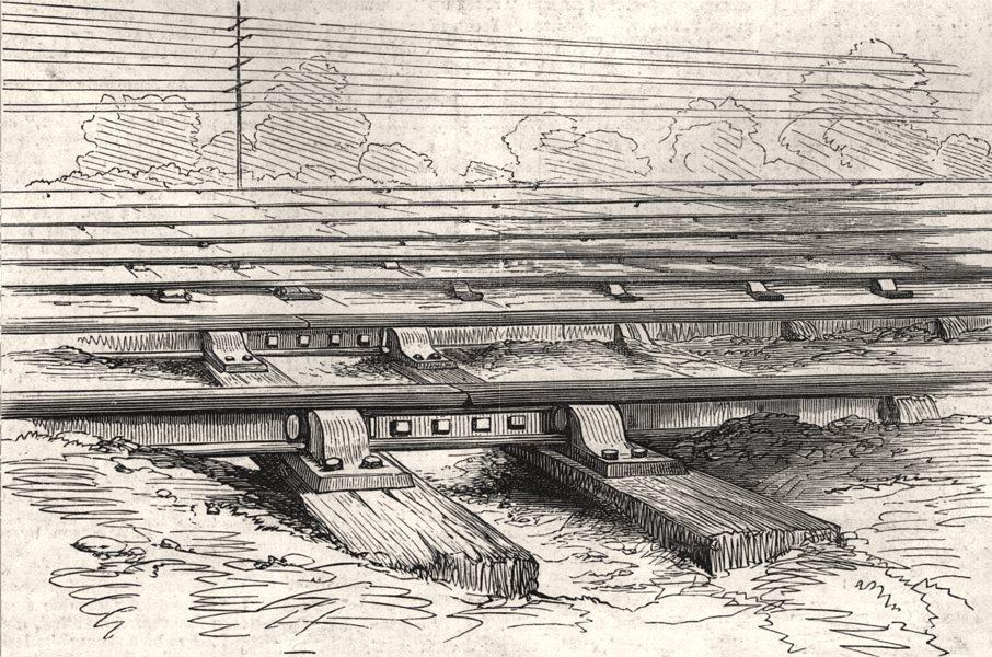 Associate Product London & North-Western train bomb plot. Fish plates rails dynamite placed, 1880