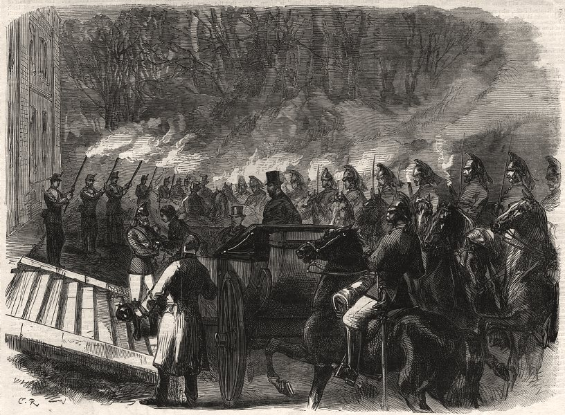 Associate Product Arrival of the Prince and Princess Of Wales at Kimbolton. Cambridgeshire, 1870
