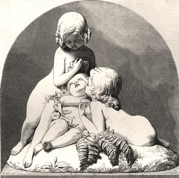 "Associate Product ""The brothers' little pet"" - portrait group Herbert Ingram's children, 1853"