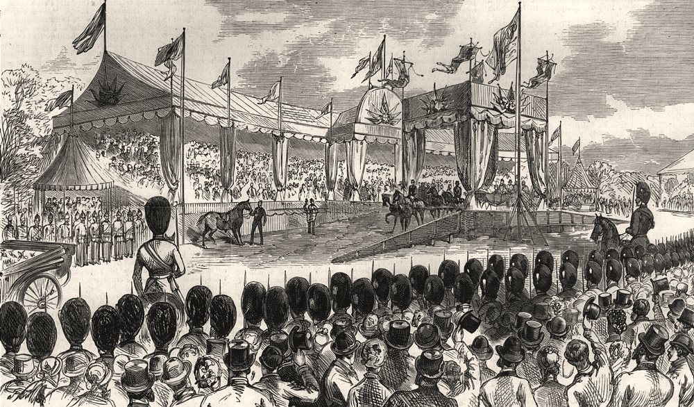Associate Product Queen Victoria's visit to Epping Forest. The scene at High Beech. London, 1882