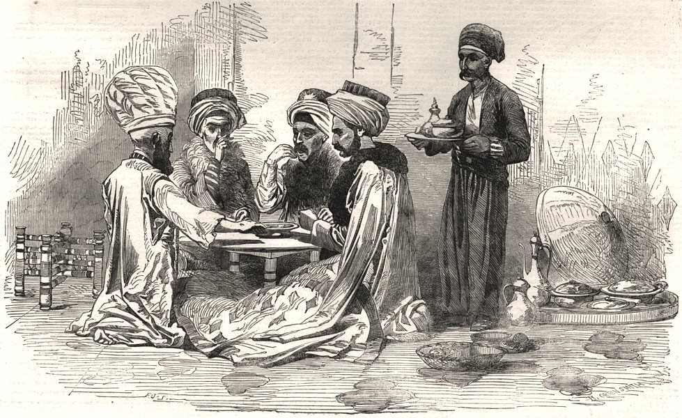 Associate Product The Turkish exhibition & museum, Hyde Park Corner. A Turkish dinner party, 1854