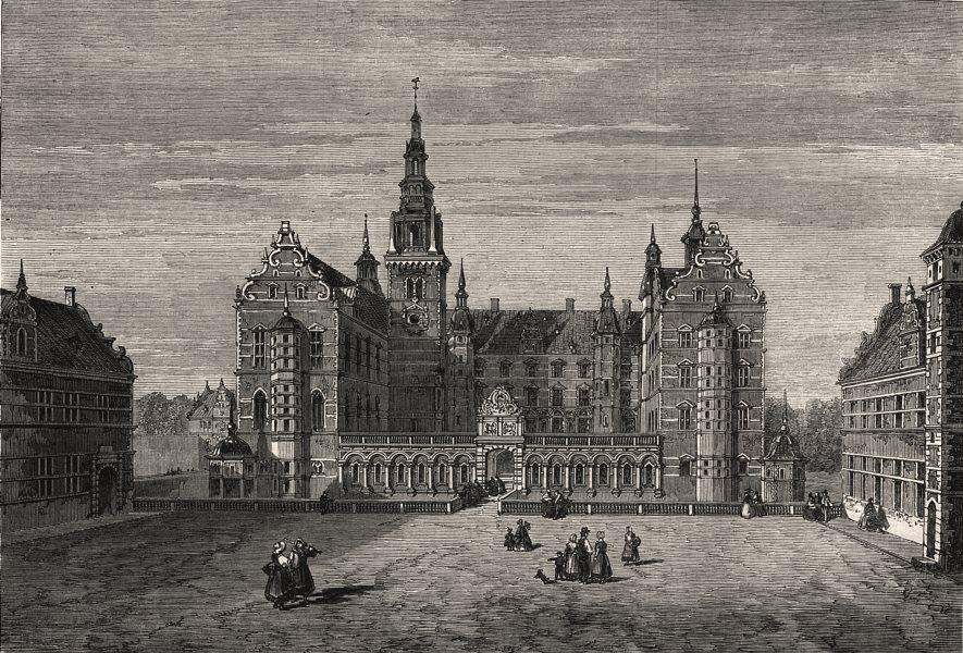 Associate Product Fredericksborg Castle, the residence of the King of Denmark, antique print, 1863