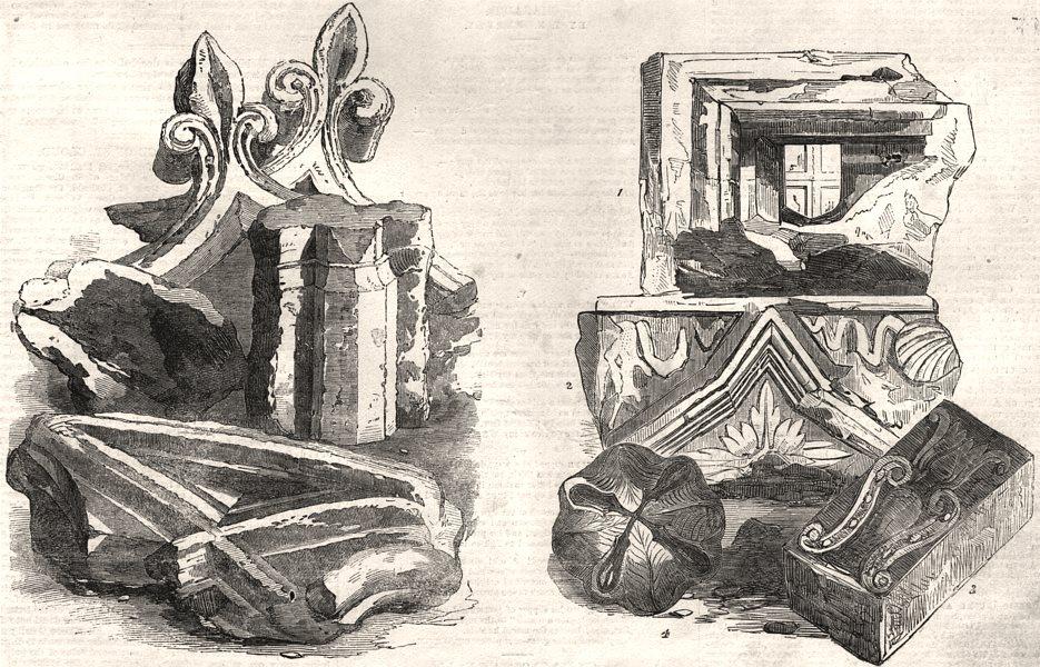 Associate Product Fragments of Black Friars Monastery & St. John's Gate, Clerkenwell. London, 1856