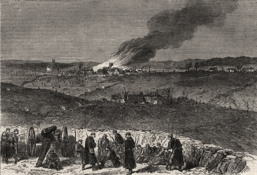 Associate Product Repulse of the Prussians of March 28, from the Danish redoubts. Denmark, 1864