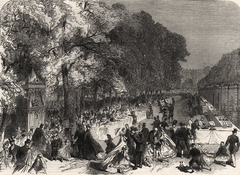 Associate Product Fete given by the Prince Imperial to poor children. Tuileries, Paris, 1864