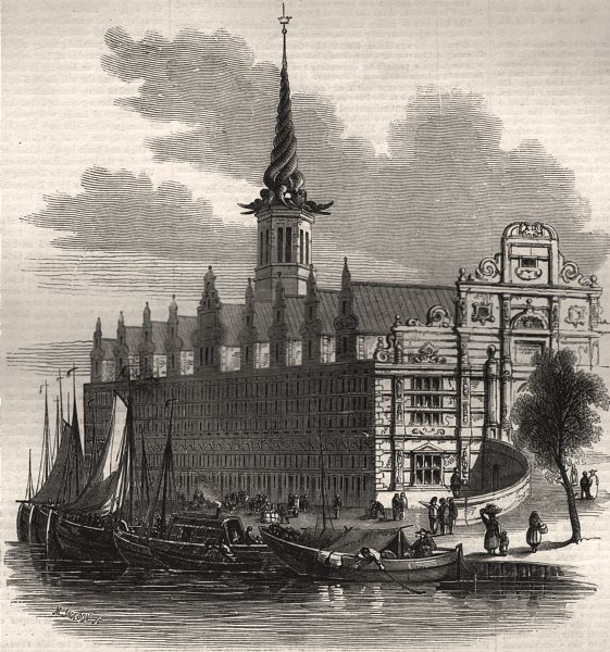 Associate Product Summer Travel - a short tour in Denmark. The Börsen, Copenhagen. Denmark, 1858