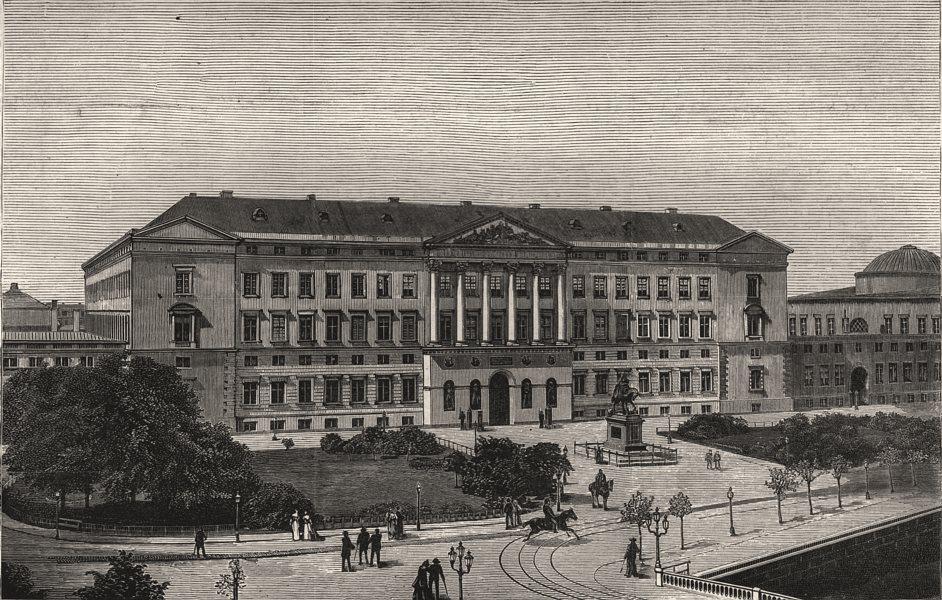 Associate Product Christiansborg Castle fire Copenhagen. Danish house of parliament. Denmark, 1884