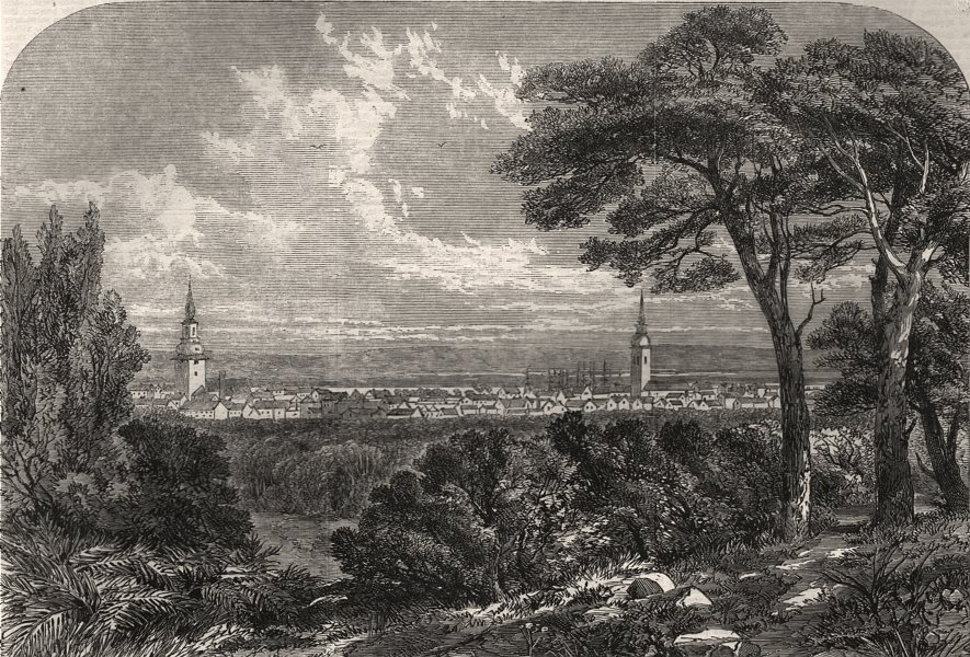 Associate Product War in Denmark: view of Aalborg, Jutland, occupied by the Prussian Army, 1864
