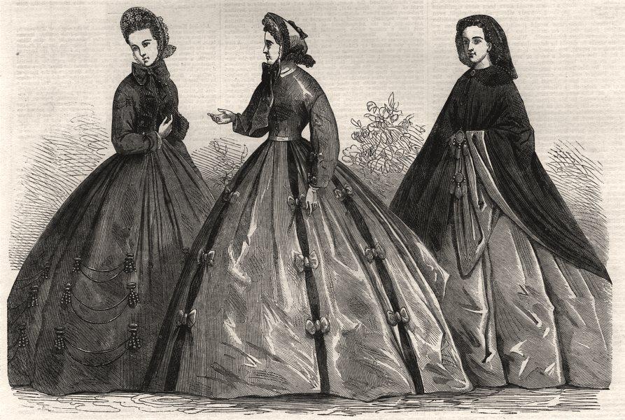 Associate Product Paris fashions for June, antique print, 1864